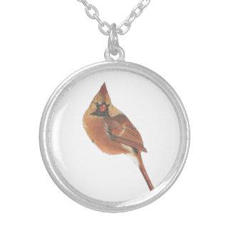 基本的で美しくかわいく赤い鳥の鳥の宝石類 シルバープレートネックレス
