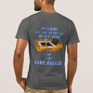 基本的なアメリカの蹄鉄のピッチングのティー Tシャツ