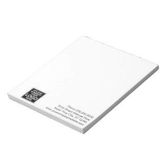 基本的なオフィスまたはビジネスロゴのノート ノートパッド