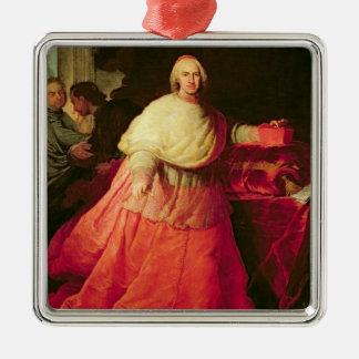 基本的なカーロスdeボルハ、c.1721 (キャンバスの油) メタルオーナメント