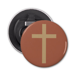 基本的なキリスト教の十字の金比率錆ついたブラウン 栓抜き
