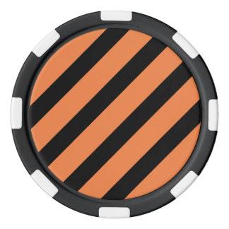 基本的なストライプ1のCelosiaのオレンジ ポーカーチップ