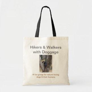 基本的なトート: Doggageのハイカー及び歩行者 トートバッグ