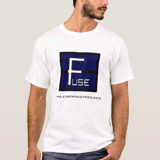 基本的なヒューズの正方形のロゴのTシャツ Tシャツ
