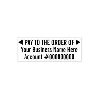基本的なビジネス沈殿物2ラインの発注に支払って下さい セルフインキングスタンプ