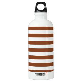 基本的なブラウンおよび白のストライプパターン ウォーターボトル