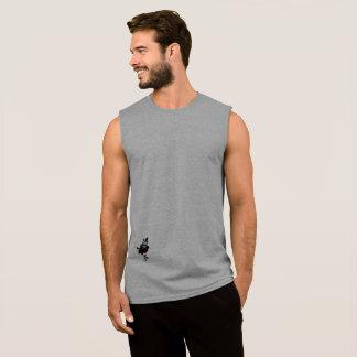 基本的な人の袖なしのTシャツ 袖なしシャツ