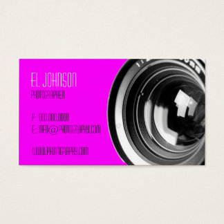 基本的な写真撮影の名刺(マゼンタ) 名刺