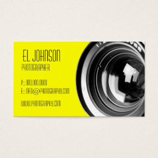 基本的な写真撮影の名刺(Melloの黄色) 名刺