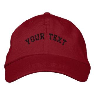 基本的な刺繍された赤い帽子のテンプレート 刺繍入りキャップ