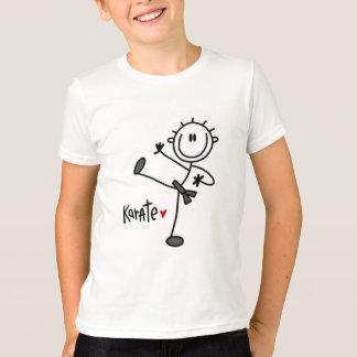 基本的な棒の姿の空手のTシャツおよびギフト Tシャツ