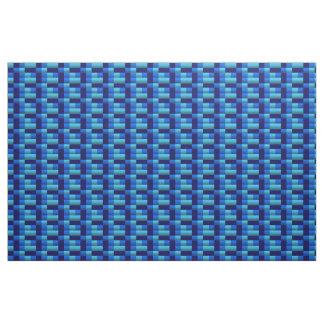 基本的な青い正方形 ファブリック