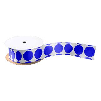 基本的な青い水玉模様のリボン サテンリボン
