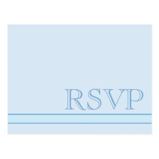 基本的な青RSVP ポストカード