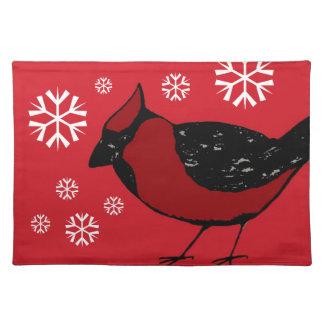 基本的な鳥の雪片のランチョンマット ランチョンマット