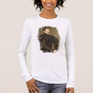 基本的なGraの従者からの人のポートレート 長袖Tシャツ
