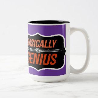 基本的には天才(Christieのために) ツートーンマグカップ