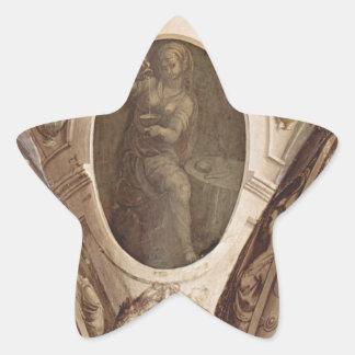基本道徳Agnolo Bronzinoのアレゴリー 星シール
