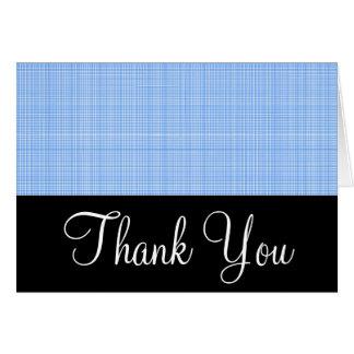 基本黒いw/Blueの格子縞は挨拶状感謝していしています カード