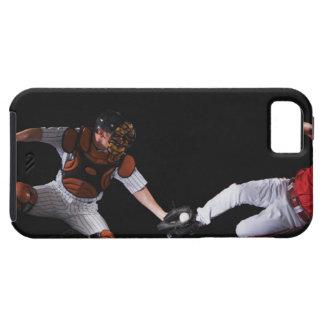 基盤に滑っている野球選手 iPhone SE/5/5s ケース