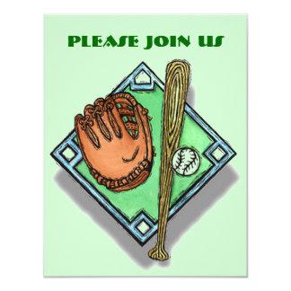 基盤は野球のソフトボールのパーティの招待状を尾行します カード