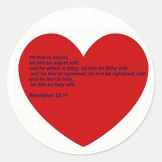 堅いことわざの聖書の詩 ラウンドシール