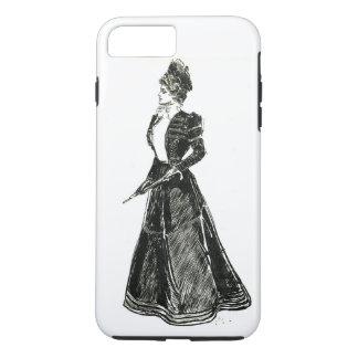 堅いとギブソン・ガールの歩くのスーツ6/6s iPhone 7 plusケース