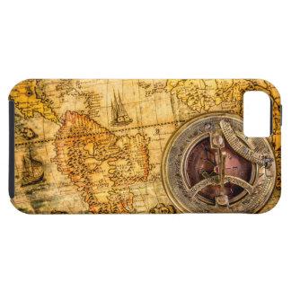 堅いコンパスおよび地図のiPhone 5/5S iPhone SE/5/5s ケース