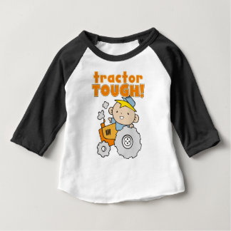 堅いトラクター ベビーTシャツ