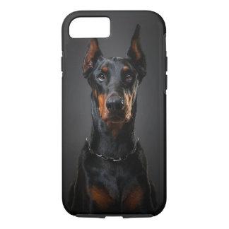 堅いドーベルマン犬のiPhone 7 iPhone 8/7ケース