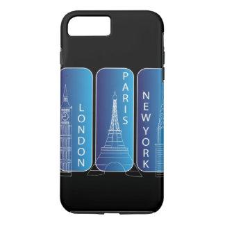堅いニューヨーク、ロンドン、パリのiPhone 7 iPhone 8 Plus/7 Plusケース