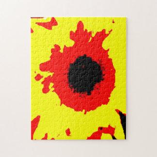 堅いヒマワリのジグソーパズル パズル