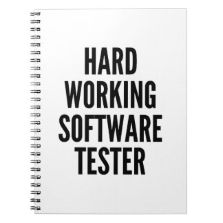 堅い働くソフトウェアテスター ノートブック