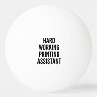 堅い働く印刷の助手 卓球 ボール