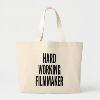 堅い働く映画製作者 ラージトートバッグ