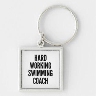 堅い働く水泳のコーチ キーホルダー