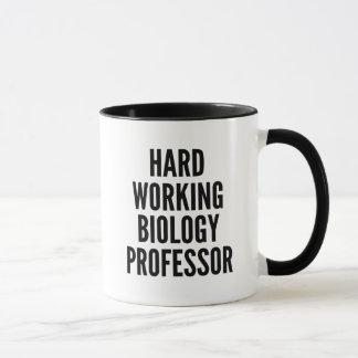 堅い働く生物学教授 マグカップ