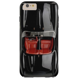 堅い場合とスポーツ・カーの黒のiPhone 6/6S Tough iPhone 6 Plus ケース