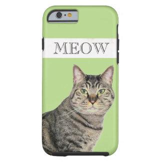 堅い猫の鳴き声の虎猫猫のiPhone6ケース ケース