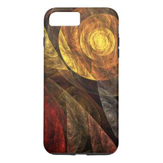 堅い生命抽象美術の螺線形 iPhone 8 PLUS/7 PLUSケース