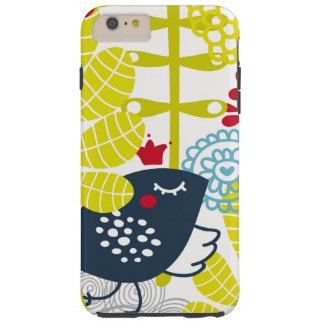 堅い花および鳥の標準 TOUGH iPhone 6 PLUS ケース