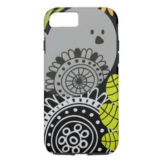 堅い花および鳥のiPhone 7の標準 iPhone 8/7ケース