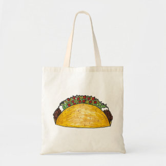 堅い貝のタコスのタコスのメキシコ食糧トートバック トートバッグ