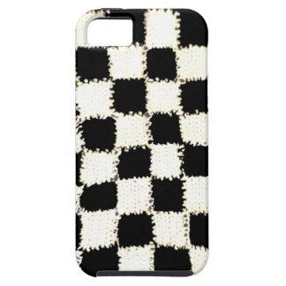 堅いiPhone 5/5Sの場合によってかぎ針編み市松模様にされるスタイル iPhone SE/5/5s ケース