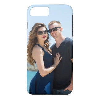 堅いiPhone 7のプラスの例の幸せなカップルの写真 iPhone 8 Plus/7 Plusケース