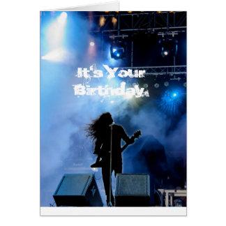 堅いRockinの重金属のギタリストのバースデー・カード カード