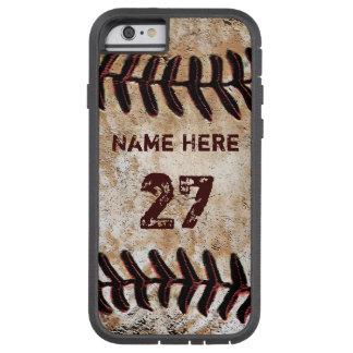 堅く名前入りなヴィンテージの野球のiPhoneのケース Tough Xtreme iPhone 6 ケース