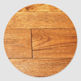 堅木張りの床 丸形シール・ステッカー