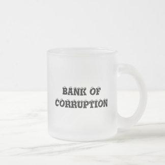 堕落の銀行 フロストグラスマグカップ