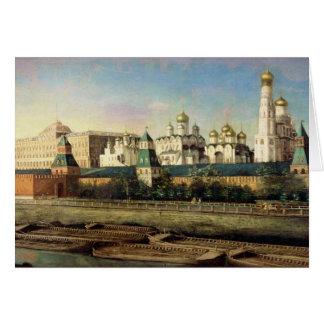 堤防からのモスクワクレムリンの眺め カード